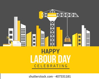 Vector illustration of happy Labour Day background.