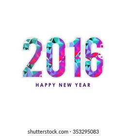 Vector Illustration of Happy New Year 2016 greeting card.