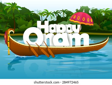 vector illustration of Happy Onam wallpaper background