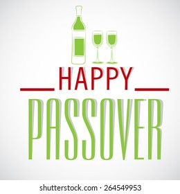 Vector illustration for Happy Passover.