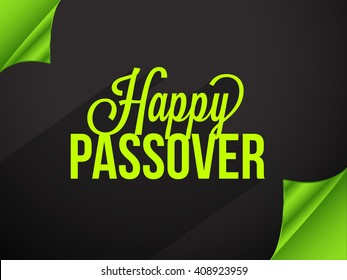 Vector illustration of happy passover.