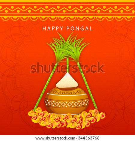 Vector illustration happy pongal greeting card stock vector royalty vector illustration of happy pongal greeting card m4hsunfo