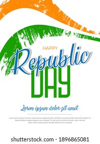 Vector illustration of Happy Republic Day Background.