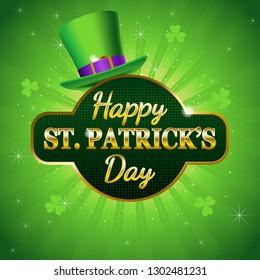 Vector illustration of Happy Saint Patrick's Day symbol
