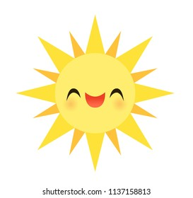 Vector illustration of a happy smiling sun