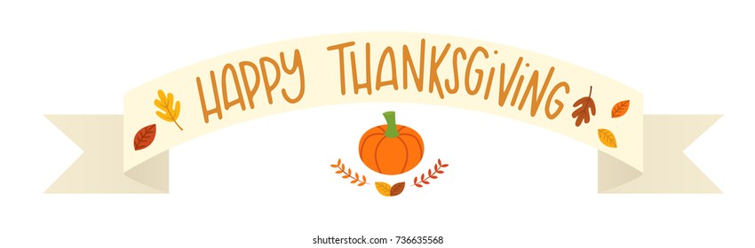 Vector illustration of a Happy Thanksgiving banner