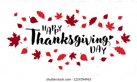 Vector illustration. Happy Thanksgiving Day typography vector design for Thanksgiving greetings card, banner, poster. Happy Thanksgiving lettering.