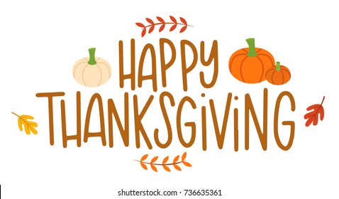 Vector illustration of a Happy Thanksgiving greeting