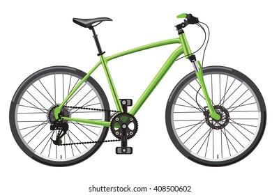vector illustration of hardtail mountain bike