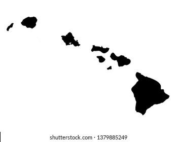 vector illustration of Hawaii map