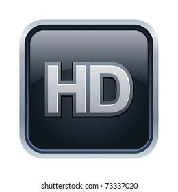 Vector illustration of HD icon