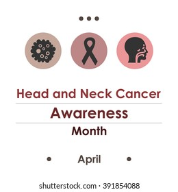 vector illustration / head and neck cancer awareness month