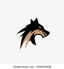 Vector illustration head of a wolf