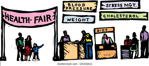 Vector illustration of health fair