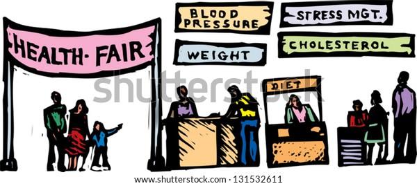 Vector illustration of health fair