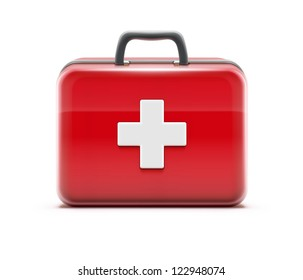 Vector illustration of healthcare concept with first aid box icon