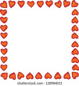 Vector illustration of heart background