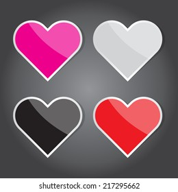 The Vector Illustration, Heart Icon for Design and Creative Work