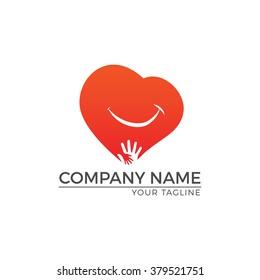 Vector Illustration : Heart Logo / Smile Heart
