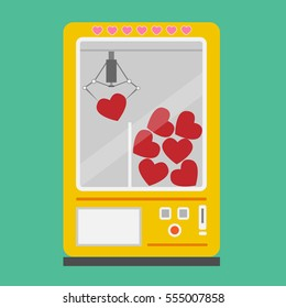 Vector illustration heart machine