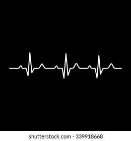 Vector Illustration heart rhythm ekg vector