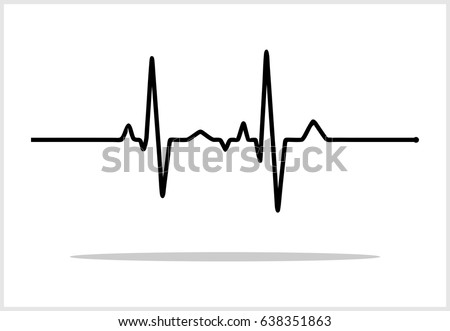vector illustration heart rhythm ekg vector stock vector royalty rh shutterstock com ekg vector ekg vector