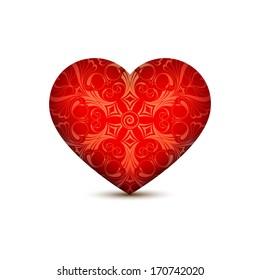 Vector illustration of the heart symbol