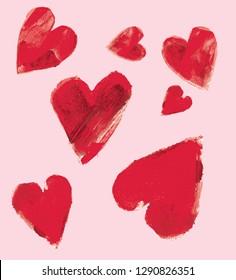 Vector illustration hearts pattern