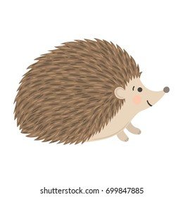 Vector illustration with hedgehog