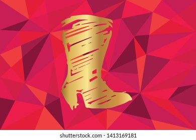 4d4a7f45c5c Polygonal Shoes Images, Stock Photos & Vectors | Shutterstock