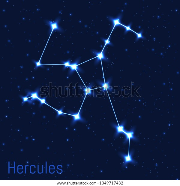 Vector Illustration Hercules Constellation Cluster Realistic