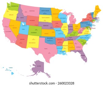 Usa Map with Capitals Stock Vectors, Images & Vector Art ...