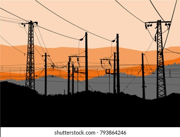 Power Electric Grid Stock Illustrations Images Vectors