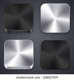 Vector illustration of high-detailed apps metal icon set.