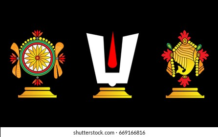 Vector illustration of Hindu God: Lord Venkateswara or Lord Balaji