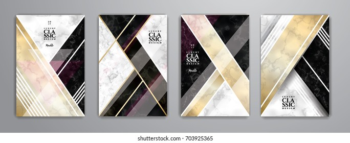 vector illustration. Hipster frame design and background, imitation of marble and gold. Graphic element for booklet design, flyer, card and cover.