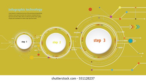 Vector illustration Hi-tech digital and engineering telecoms technology concept for infographic a business plan concept, diagram, flowchart, steps, parts, timeline, workflow layout and content chart.