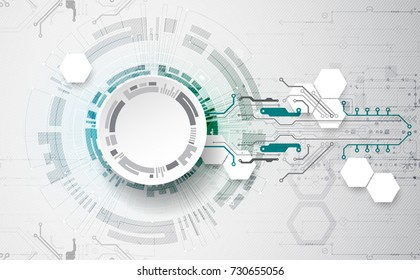 Vector illustration, Hi-tech digital technology and engineering theme