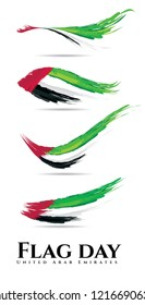 vector illustration. holiday UAE. United Arab Emirates flag day graphic design. translation from Arabic: flag day
