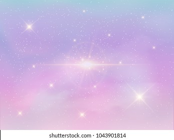 Vector Illustration of holographic fantasy background and pastel color.
