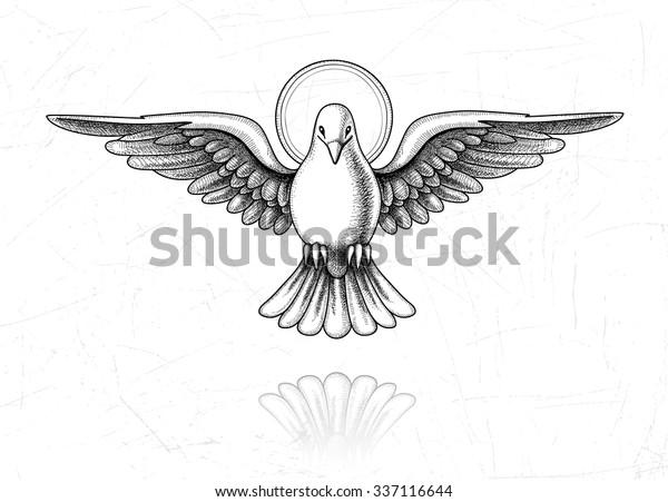 Vetor Stock De Ilustracao Vetorial Do Espirito Santo Pomba Livre