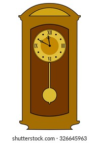 vector illustration of home, classic clock