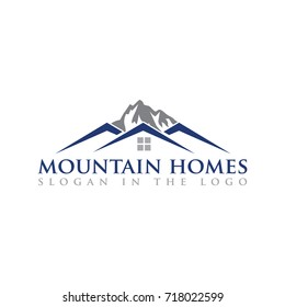 Vector Illustration : Home Mountain Logo Concept