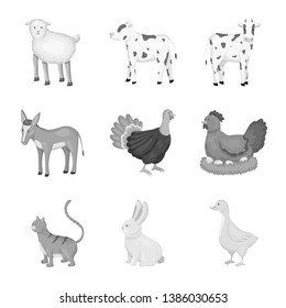 Vector illustration of homestead and agriculture sign. Collection of homestead and kitchen  vector icon for stock.