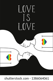 Vector illustration with homosexual romantic partners. Lesbian couple. Doodle style.