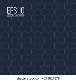 Vector illustration of honeycomb background for your design