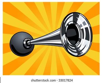 vector illustration of a horn