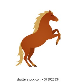 Vector illustration of horse on white background.