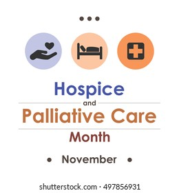 vector illustration for  Hospice Palliative Care Month in november