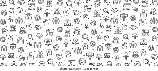 VECTOR ILLUSTRATION OF HUMAN RESOURCES ICON CONCEPT